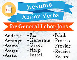 Add These Powerful Words To Your Resume Today General Labor