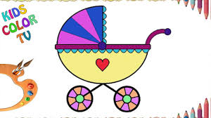 Bebe Desenho Drawing And Coloring Baby Carriage Desenhando E Colorindo