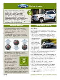 Ford Factsheet Ford Drive Green Oct2009 | Ford Motor Company ...