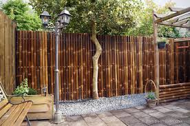 fence panels designs. Image Of: Giant Bamboo Fence Panels Designs L