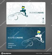 business card for painting a car business concept vector by john1279
