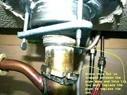 how to remove sink drain pipe coming out of wall replacing sink drain home design a