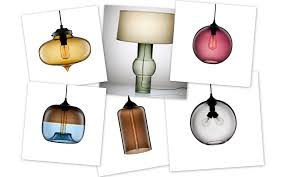 ... Gorgeous Table Lamp Decoration With Hand Blown Glass Lamp Shade :  Astounding Lamp Accessories And Decoration ...
