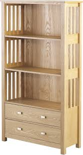 ashmore 2 drawer tall bookcase