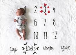 Chart Babys Growth With A Milestone Blanket Mums Grapevine