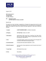 Lease Proposal Letter Impressive Lease Offer Letter Template Gdyinglun