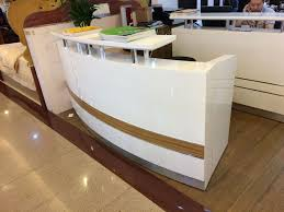 small curved used reception desk beauty salon