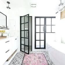 black and white bathroom rugs pink rug on black and white cement tile bathroom floor black white gray bath rugs