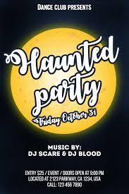 Halloween Dance Flyer Templates Halloween Party Invitation Design Template 140868