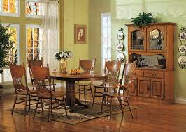 nostalgia 5 piece 48 inch round oval dining set with press back chairs in light oak