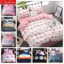 carrot pattern duvet cover bedding set kids child student girl soft cotton bed linens single full double super king size 150x200 brown bedding sets full