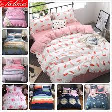 carrot pattern duvet cover bedding set kids child student girl soft cotton bed linens single full double super king size 150x200 brown bedding sets full