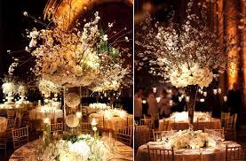 White wedding centerpieces Wedding Reception Onewed White Wedding Reception Centerpieces Dramatic Topiaries