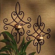 decorative wrought iron wall decor and art pickndecor from black metal wall candle holder