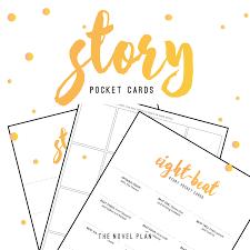 Story Pocket Cards Free Templates For Plotting The Novel