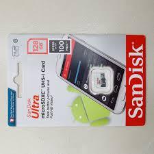 Thẻ nhớ 128GB Sandisk MicroSDXC Ultra 100MB/s Chính hãng FPT Phân Phối chính  hãng 338,000đ