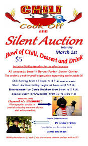 chili supper flyer byrum porter senior center chili supper silent auction singer