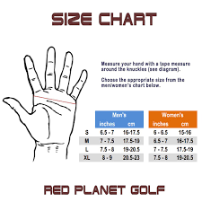 Golf Glove Hand Size Chart Rpg 100 Cabretta Leather Color Golf Glove Womens Left Hand
