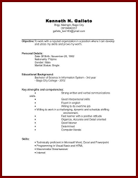 Examples Of Resumes With No Experience 7 Job Resume Examples No