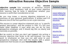 Career Change Resume Objective Samples A Good Resume Example
