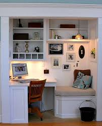 closet office ideas. 15 Closets Turned Into Glamorous Home Office Closet Ideas