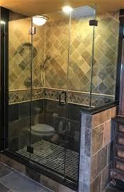 frameless corner unit featuring glass