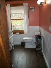 half bathroom floor tile ideas. amazing bathroom remodeling ideas for small design chic minimalist home interior white wooden wainscoring featuring adorable half floor tile m