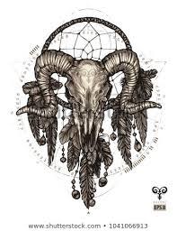 Zodiac Dream Catcher Magnificent Tattoo Aries Dream Catcher Zodiac Sign Stock Vector Royalty Free