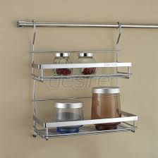 Photo 1 of 2 Brilliant Kitchen Wall Storage Shelves Wall Shelf Kitchen Storage  Rack Including Double Flavoring Rack (awesome