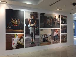 Retail interior  Nike Store NYC. Large format graphics
