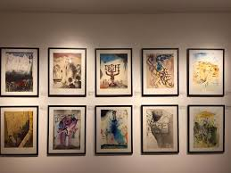a selection of paintings from salvador dalí s aliyah series on private display by new