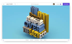 vectary 3d typography text design font fonts size