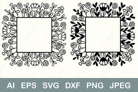 Home icons ✓ download 689 home icons free ✓ icons of all and for all, find the icon you need, save it to your favorites and download it free ! Square Flower Border Svg Monogram Frame Graphic By Anastasiyaartdesign Creative Fabrica Di 2020