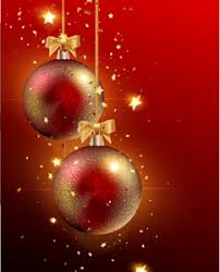 Christmas Balls Red Background Logo Vector Ai Free Download