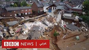 فيضانات ألمانيا: أبنية منهارة وسيارات غارقة - YouTube