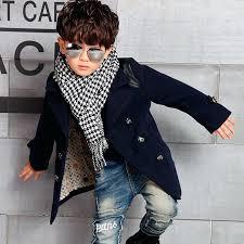 pea coat for toddler boy winter high quality kid boy designer coat jacket boys trench coat