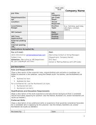 Work Description Form Free 14 Job Description Forms Pdf