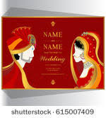 free vector colorful indian wedding card download free vector Indian Wedding Card Free Vector wedding invitation card templates with indian man and woman in traditional clothes on paper color indian wedding card design vector free download
