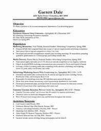 Resume Sample : Cook Resume Objective Resume Advertising With Media ...