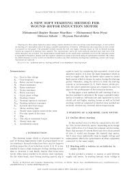 pdf starting and vector control of series connected wound rotor induction motor in super synchronous mode