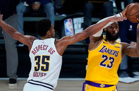 Derek fisher (r) of the los angeles lakers talks with brevin knight (r) of the los angeles clippers   jeff. Denver Nuggets P J Dozier Is Already The Defender They Re Looking For