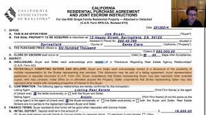 Commercial Purchase Agreement California Residential Purchase Agreement YouTube 1