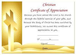 Certificate Of Appreciation Free Download Christian Certificate Appreciation Template Of Membership Wording