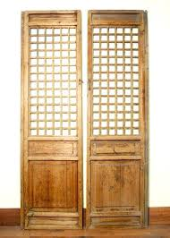 antique screen panels temple doors wood wooden garden