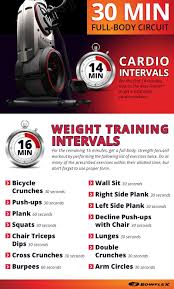 Bowflex Ultimate Exercise Wall Chart 30 Minute Full Body Interval Workout Circuit Bowflex