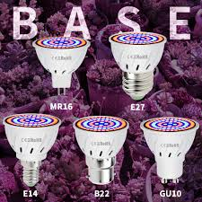 E27 <b>LED Grow Light E14 LED Full</b> Spectrum GU10 Indoor Growing ...
