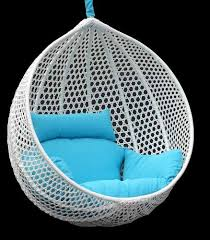 Ravelo - Vibrant Look Porch Hanging Chair With Stand - PE-03WT by Chans  Patio