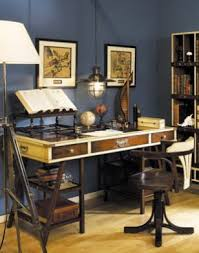 nautical office furniture. Delighful Office Navigator DeskLeather Top Nautical Desk  Office  Inside Furniture T
