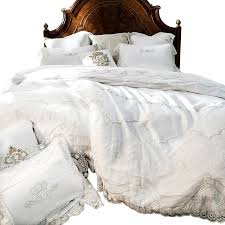 eloquence french white lace duvet cover set