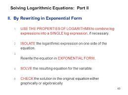 63 solving logarithmic